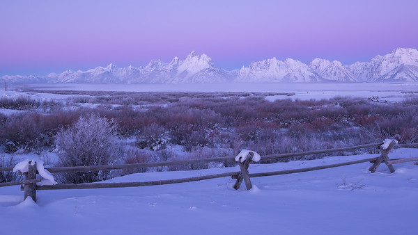 Earth Shadow Over Teton Range