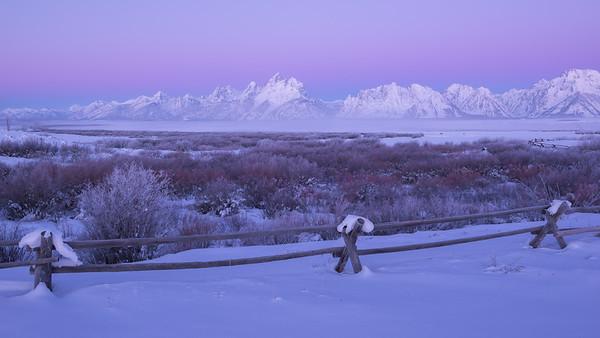 Earth Shadow Over Teton Range