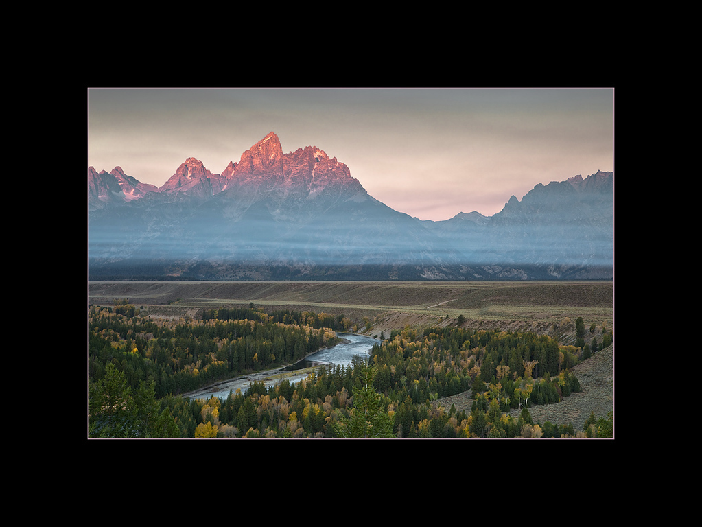 Snake River Overlook at Sunrise, Grand Teton National Park