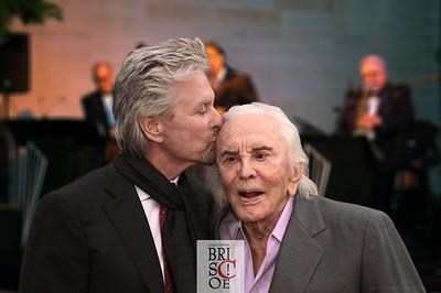 Michael and Kirk Douglas
