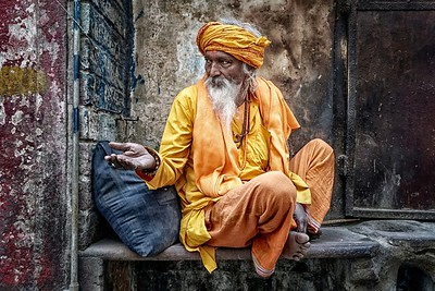 Holy Man in Varanasse, India