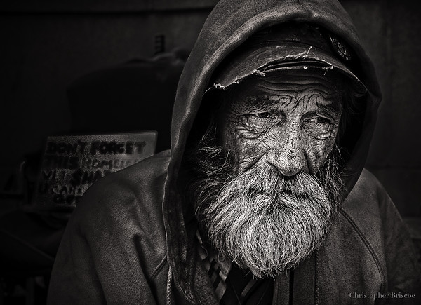 Homeless man in Washinton DC