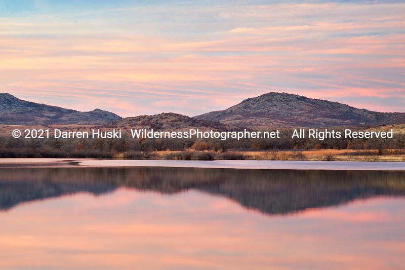 Sunset at Quanah Parker Lake
