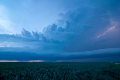 A supercells churns above the open fields of western Oklahoma.