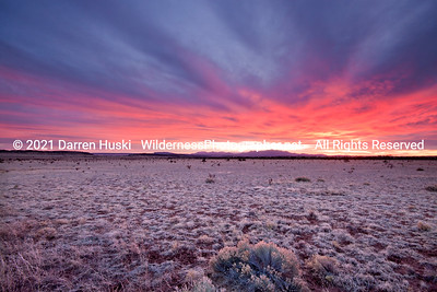 Sunset on the open range of New Mexico.