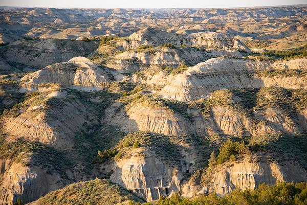 The endless badlands of Theodore Roosevelt National Park in North Dakota.