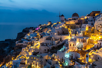 Oia at night.