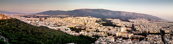 Modern Athens from above