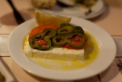 Grilled Feta at Tamam, Hania, Crete, Greece