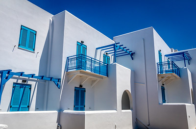 Blue and white. The Greek national colors