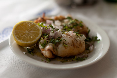 Grilled Cuttlefish, Hania, Crete, Greece