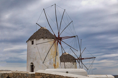 Greece, Mykonos  Windmills -6