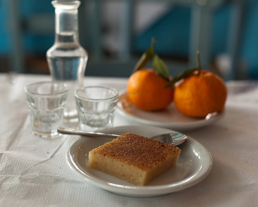 Dessert with Raki, Hania, Crete, Greece