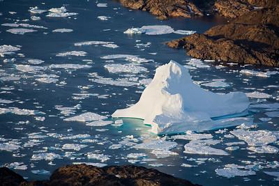 Stranded iceberg at the entrance to Kong Ocar Havn.