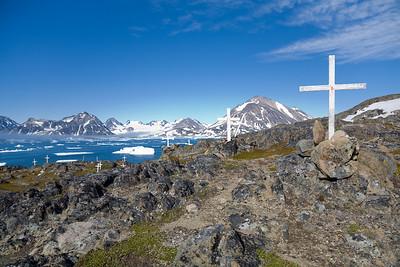 Inuit graveyard.