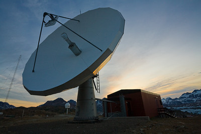 The satellite dish above town; Tasiilaq's only link to the rest of the world.
