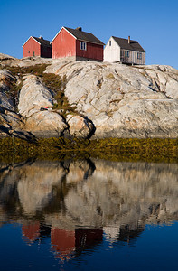 Reflection of greenlandic houses.