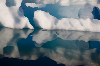 Reflection of drift ice.