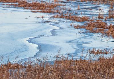 wavy blue ice