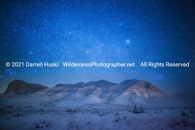 Winter Night at Guadalupe Mountains National Park, Texas