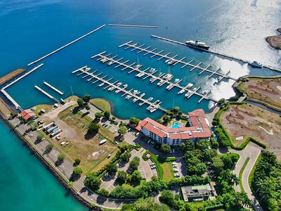 Aerial view of the Marina Papagayo