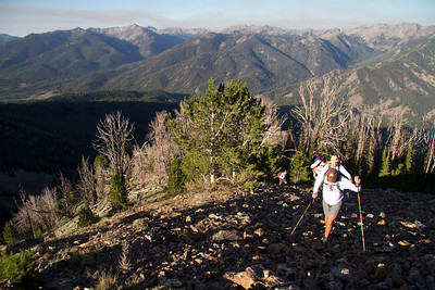 Mark leads the pack as we climb above treeline on the west ridge of Pk. 10,941.