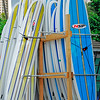Surf Boards and Paddle Boards on Waikiki Beach