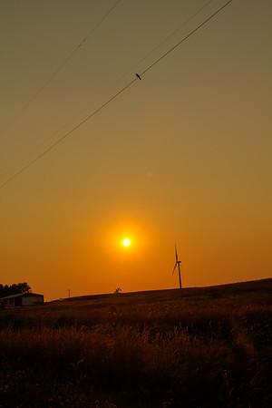 Chasing a sunset, July 1, 2012