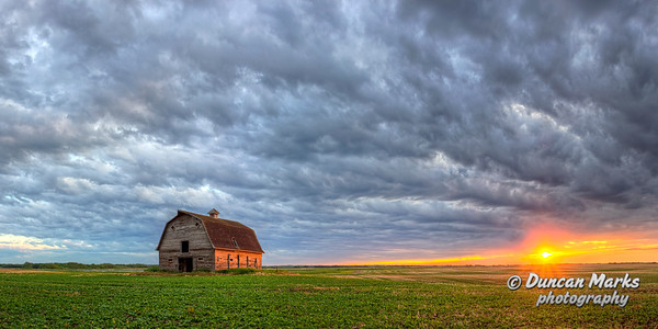 Rustic Old Barn Sunset