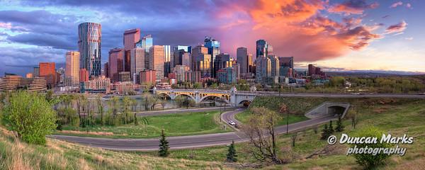 Calgary Skyline Panorama