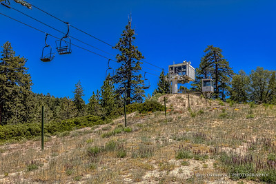 Ski Mountain (without snow), Near Lake Arrowhead and Big Bear Lake, CA