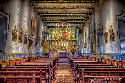 Golden Altar at Mission San Juan Capistrano, CA