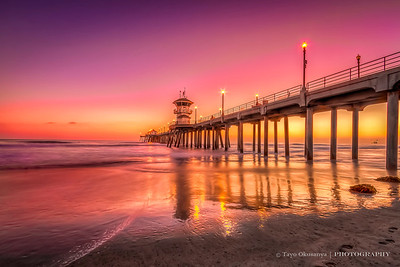 Sunset at Huntington Beach, CA