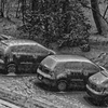 Parking lot @ My apartment Rue de Crespin @ Geneva - Switzerland after heavy Snowfall - 2010