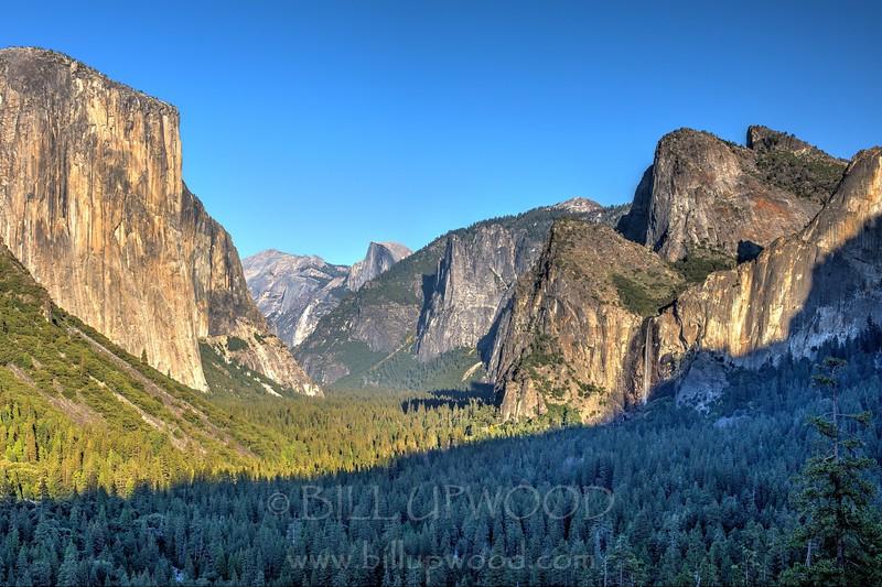 Cloudless Yosemite Valley