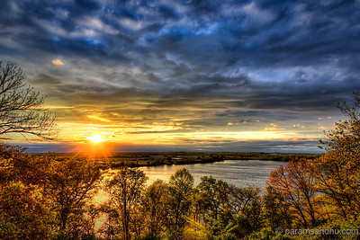 Sunset Glory at Creve Coeur Lake