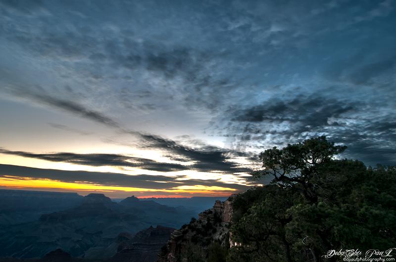 Sunrise over Grand Canyon South Rim - Phoenix, Arizona - USA
