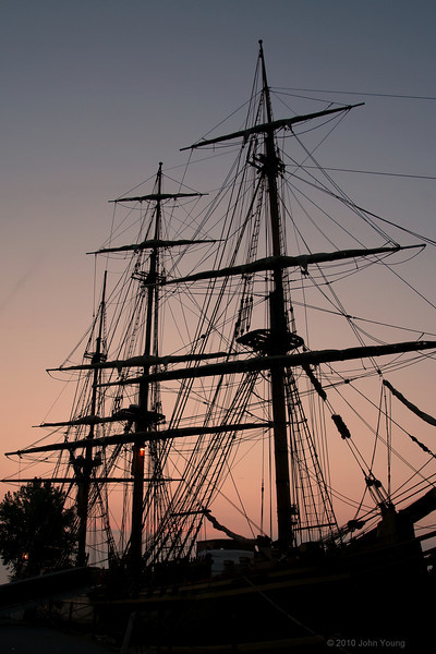 HMS Bounty at Sunrise - June 27, 2010