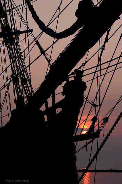 HMS Bounty at Sunrise - June 27, 2010
