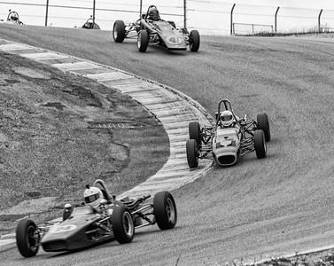Formula Fords drop through the Corkscrew