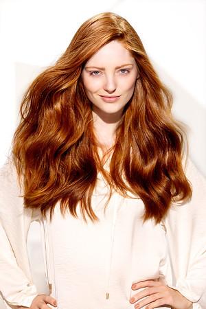 Beautiful glowing red head