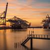 Waltershofer Hafen in Hamburg