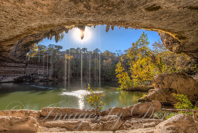 Inside Hamilton Pool Cave