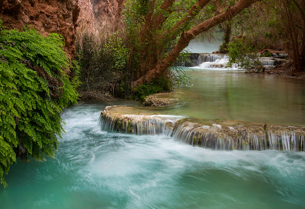 Downcreek from Mooney Falls, Havasu Canyon, Arizona
