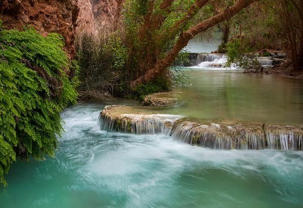 Downcreek from Mooney Falls, Havasu Canyon, Arizona