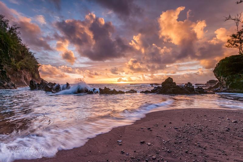 Red Sand Sunrise - Hana, Maui, HI 2011