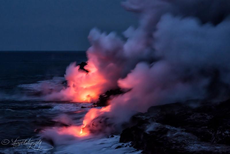 Creation of Land - Kilauea Volcano, Big Island, HI