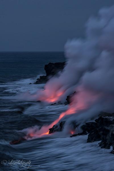 Hi'iaka and Pele's Fight - Kilauea Volcano, Big Island, HI