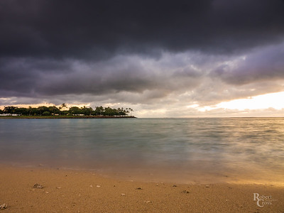 Stormy Hawaiian Winter Sunset