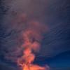 Pele and the Moon - Kilauea Volcano, Big Island, HI